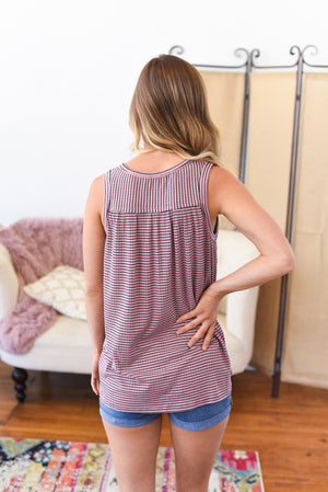 Emilia Lace Up Tank Top