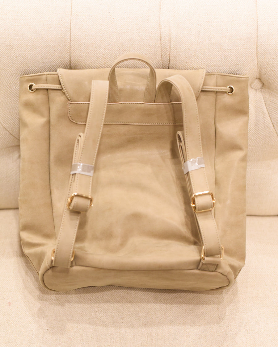 Vegan Carryall Backpack - Taupe
