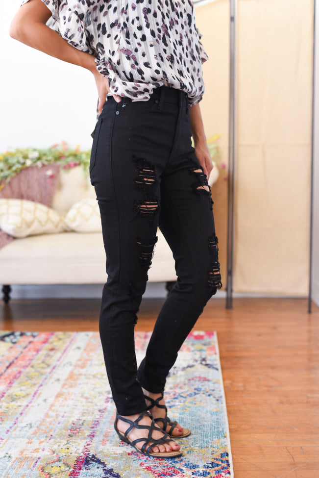 Samara High Rise Distressed Kancan Jeans