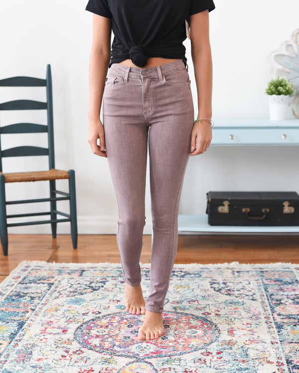 Audrey High Rise Dusty Rose Kancan Jeans