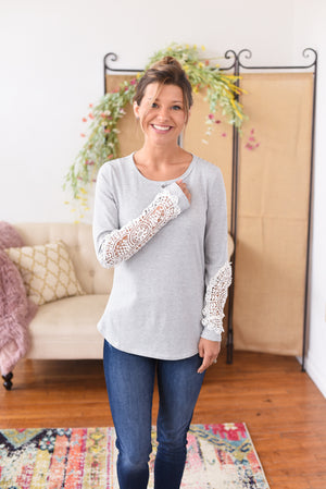Colleen Crochet Sleeve Top