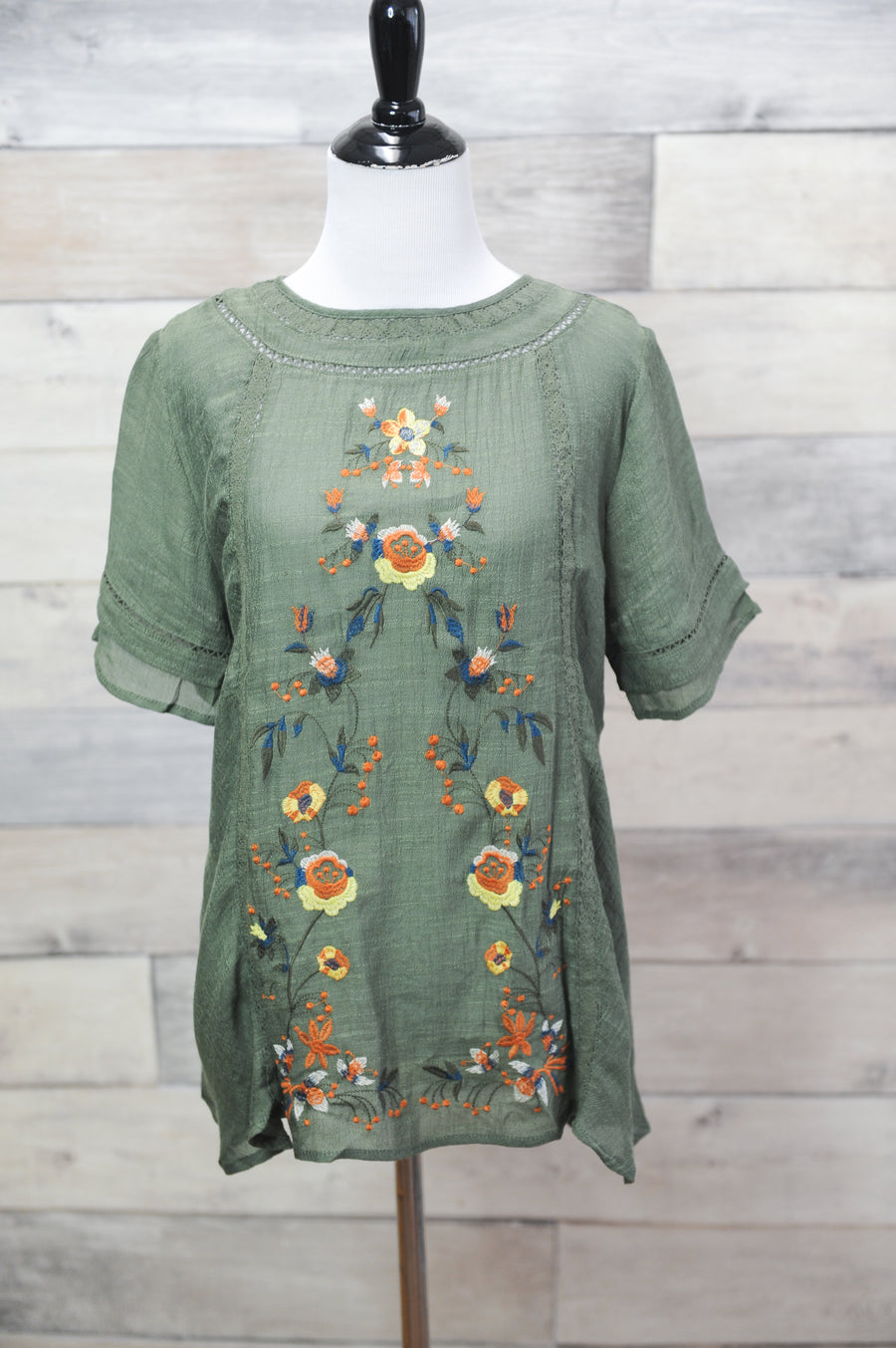 Charlotte Embroidered Top
