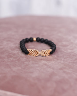 Chevron Natural Stone Bracelet