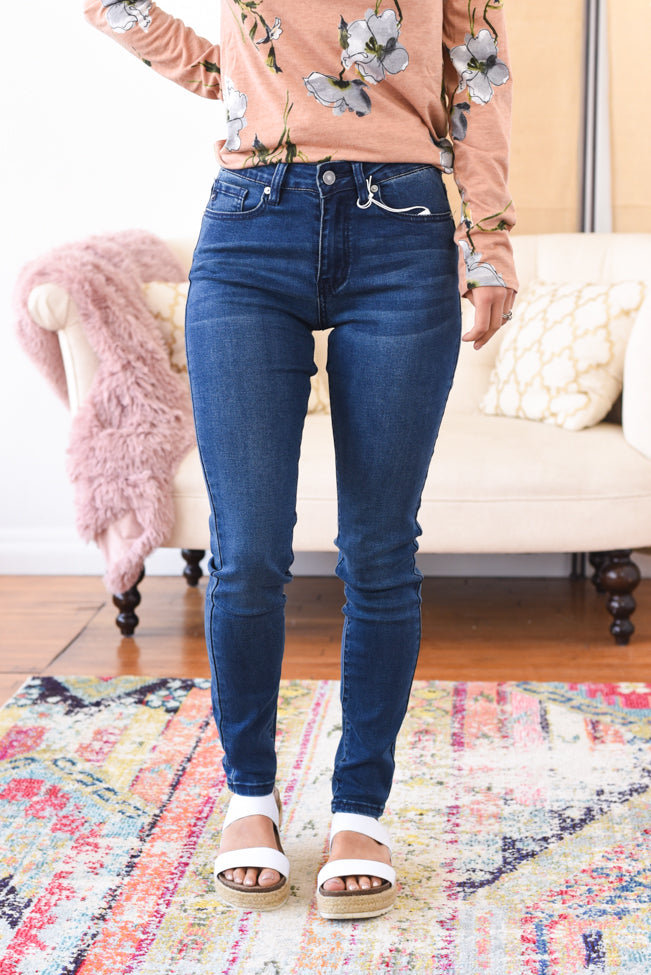 James High Rise Kancan Jeans - Dark Wash