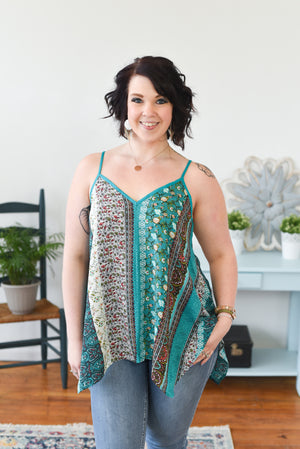 Indie Sleeveless Top - Emerald