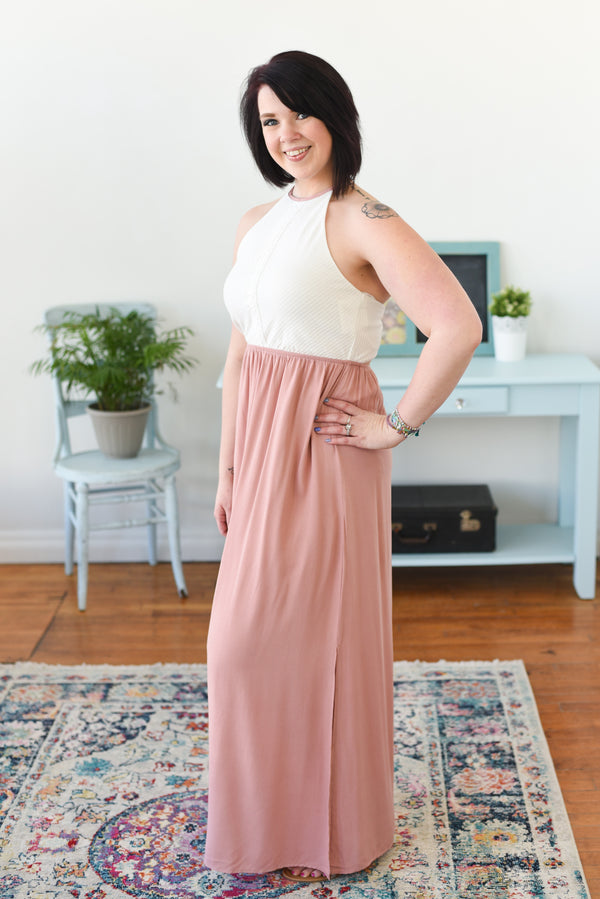 Legacie Halter Maxi Dress