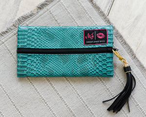 Turquoise Cobra - Makeup Junkie Bag Mini