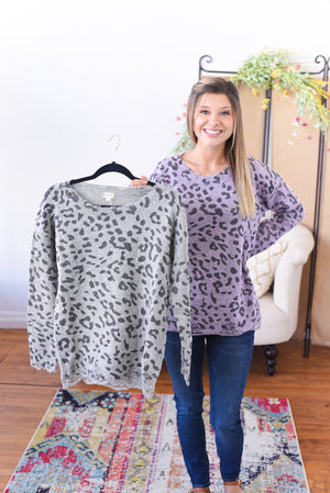 Braelynn Animal Print Sweater