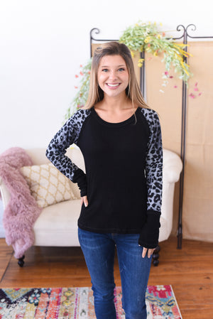 Rory Animal Print Sleeve Top