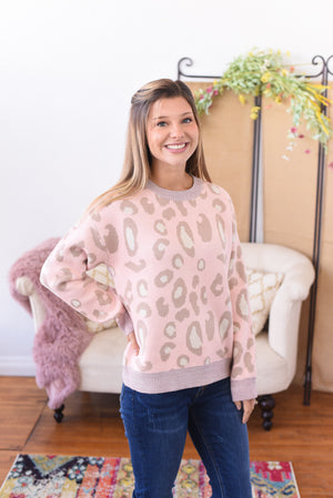 Lila Animal Print Sweater