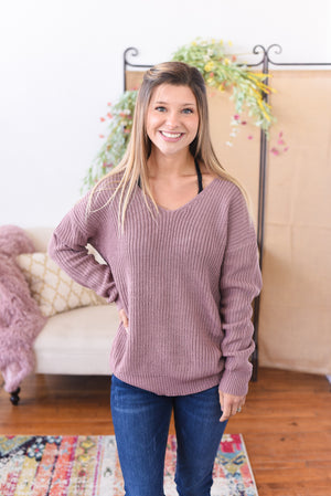 Calla Twist-Back Sweater