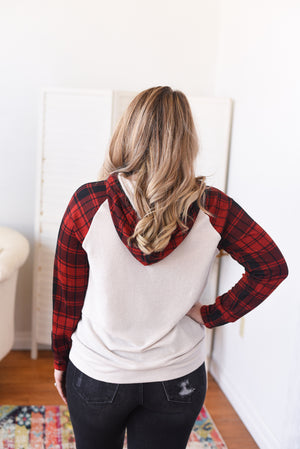 Molly Plaid Accent Hoodie