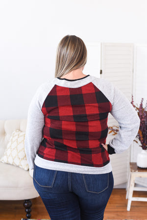 Buffalo Check Sweater - Curvy