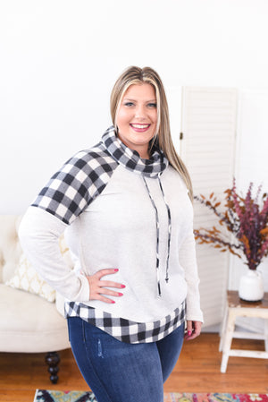 Tillie Buffalo Plaid Cowl Neck Sweater