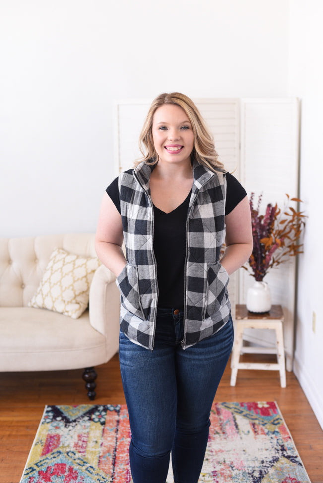 Liora Buffalo Plaid Vest
