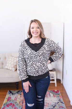Lulie Animal Print Top
