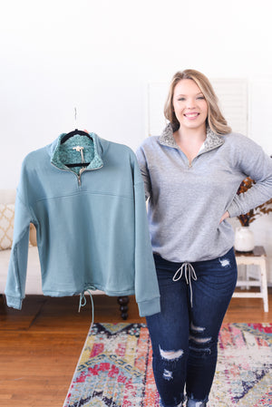 Sarah Fleece Lined Pullover Sweatshirt