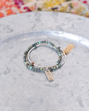 Multi Wear Double Wrap Gemstone Bracelet