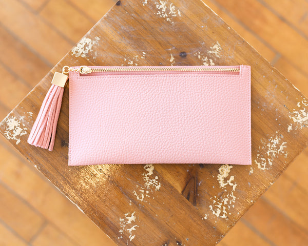 Vegan Leather Wallet with Tassel