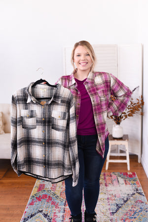 Anabelle Brushed Plaid Shirt