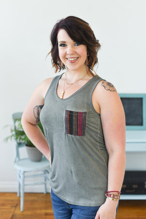 Weekend Chic Tank Top - Charcoal