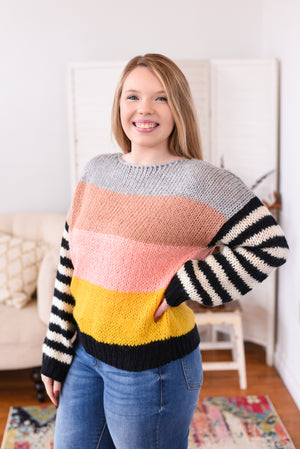 Clarah Color Block Sweater