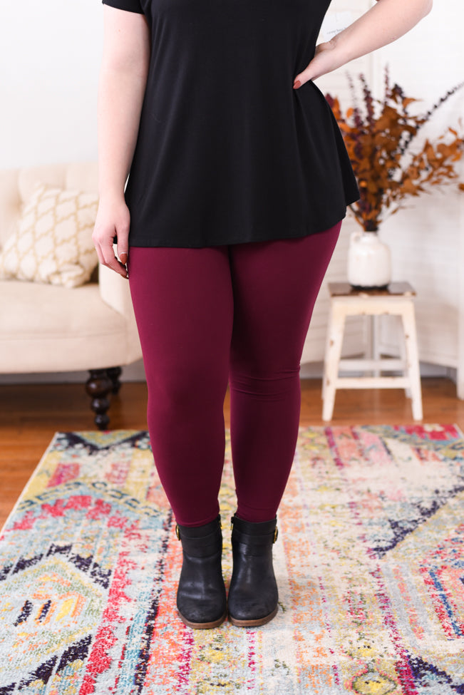 Live In Leggings - Burgundy