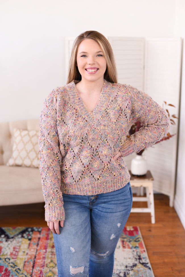 Kellie Confetti Knit Sweater