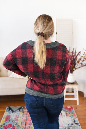 Hayden Sparkle Buffalo Plaid Top