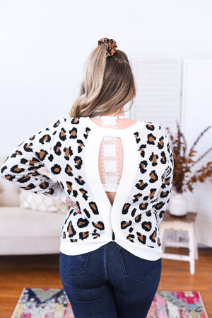 Audree Open Back Sweater