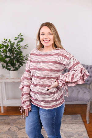 Calah Ruffle Sleeve Top