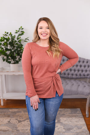 Faith Front Knot Top