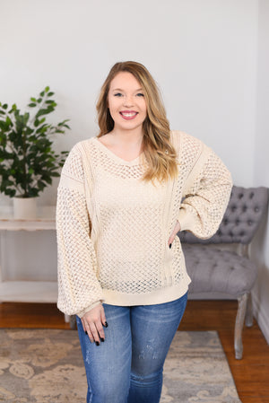 Mairi Open Knit Sweater
