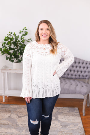 Rosey Crochet Knit Top