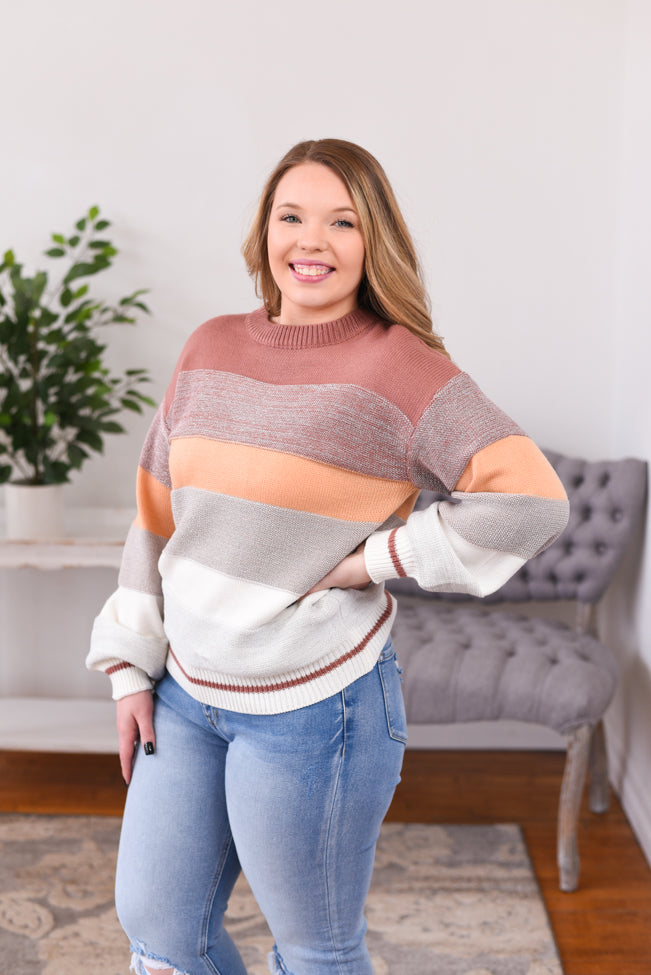 Hallie Sparkle Color Block Sweater
