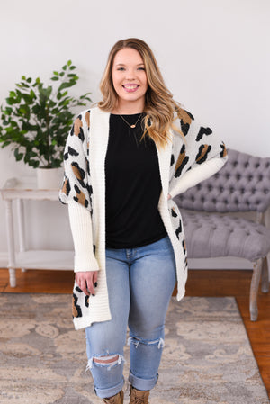 Casey Animal Print Cardigan