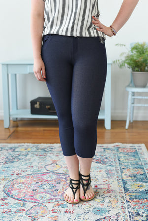 Everyday Capri Jegging - Navy
