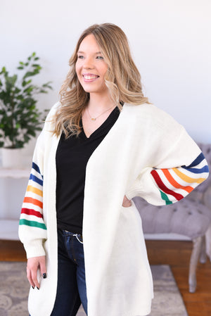 Carlin Rainbow Sleeve Cardigan