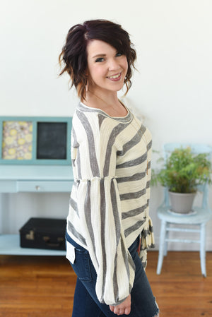Carlotta Knit Top - B&W