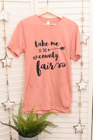 County Fair Tee - Orange Sunset