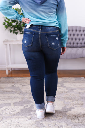 Kahli High Rise Exposed Button Kancan Jeans