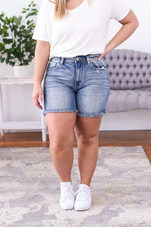 Eiva High Rise Kancan Jean Shorts