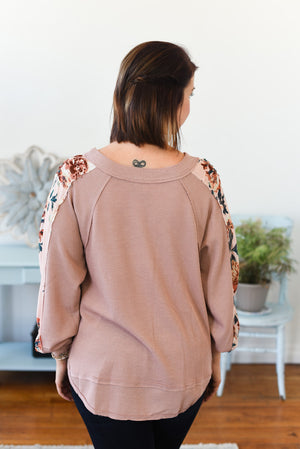Maisee Puff Sleeve Top - Blush Mix