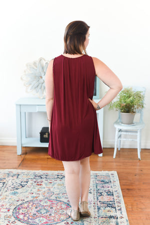 Savana Dress - Burgundy