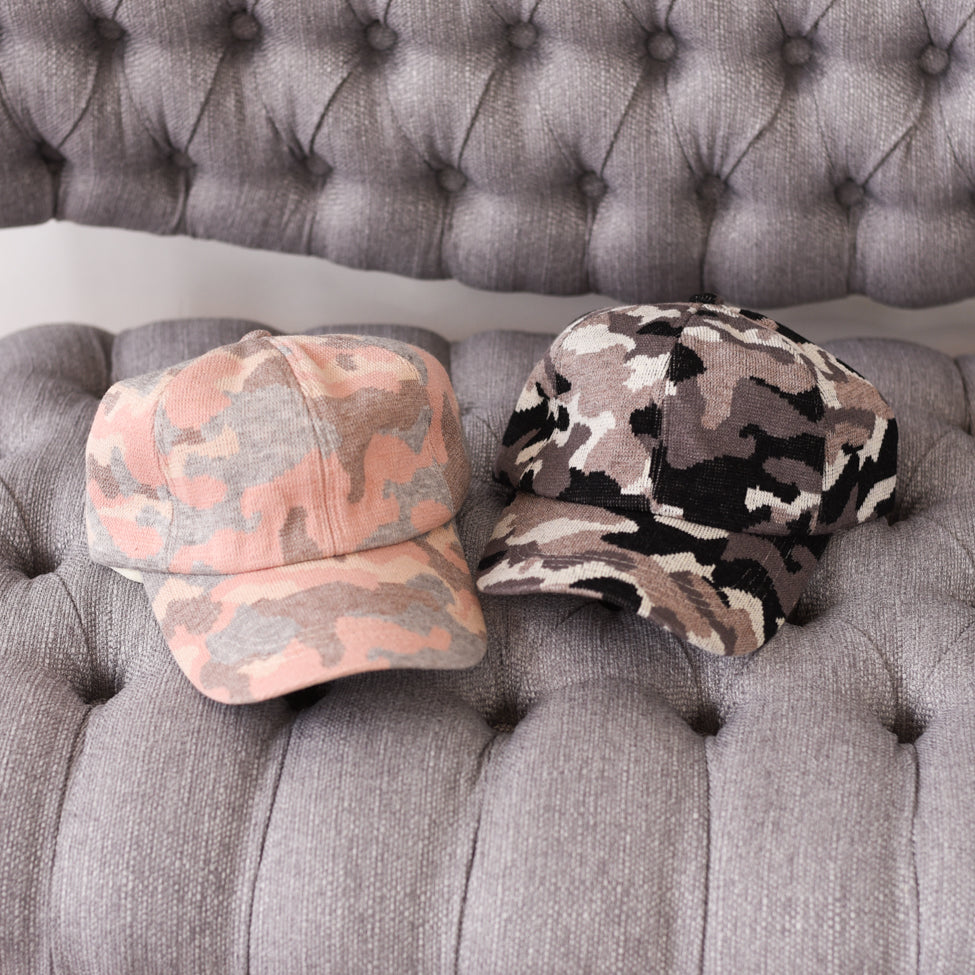 Camo Criss-Cross High Pony Hat