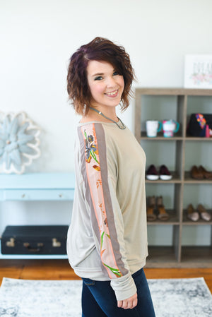 Valerie Mix Sleeve Top