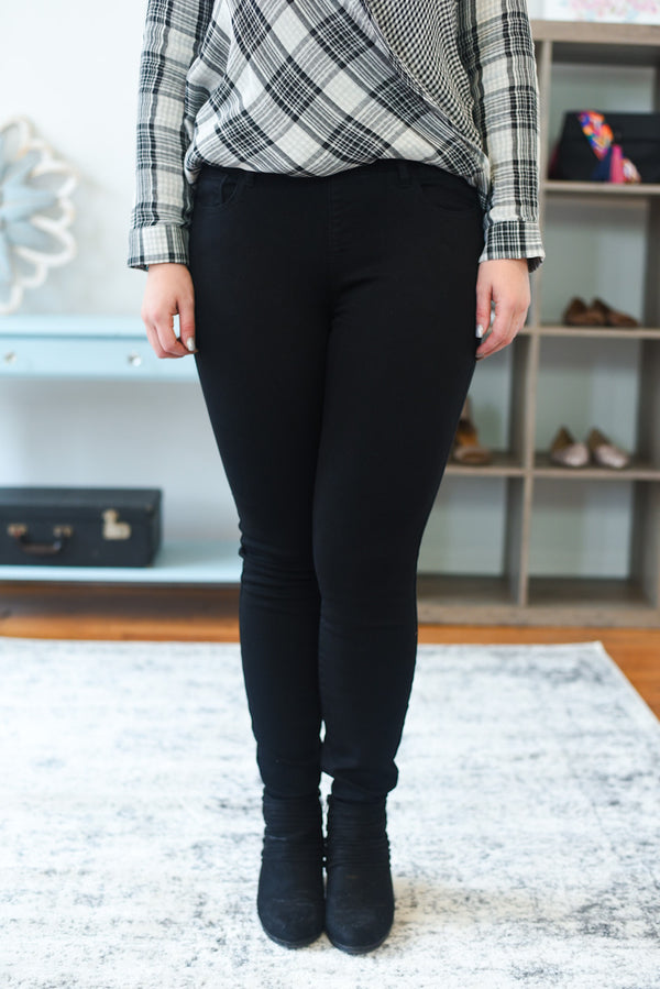 Mirabel Mid Rise Black Jeggings