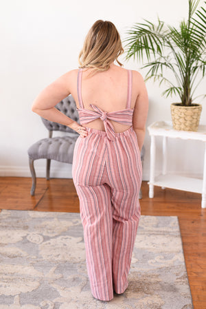Callista Striped Jumpsuit