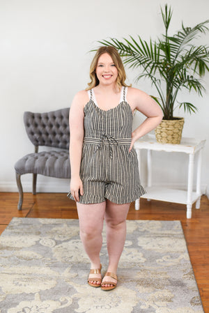 Allie Jo Striped Romper