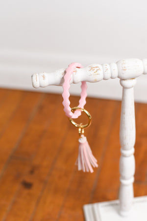 Wave Silicone Key Ring Bracelet